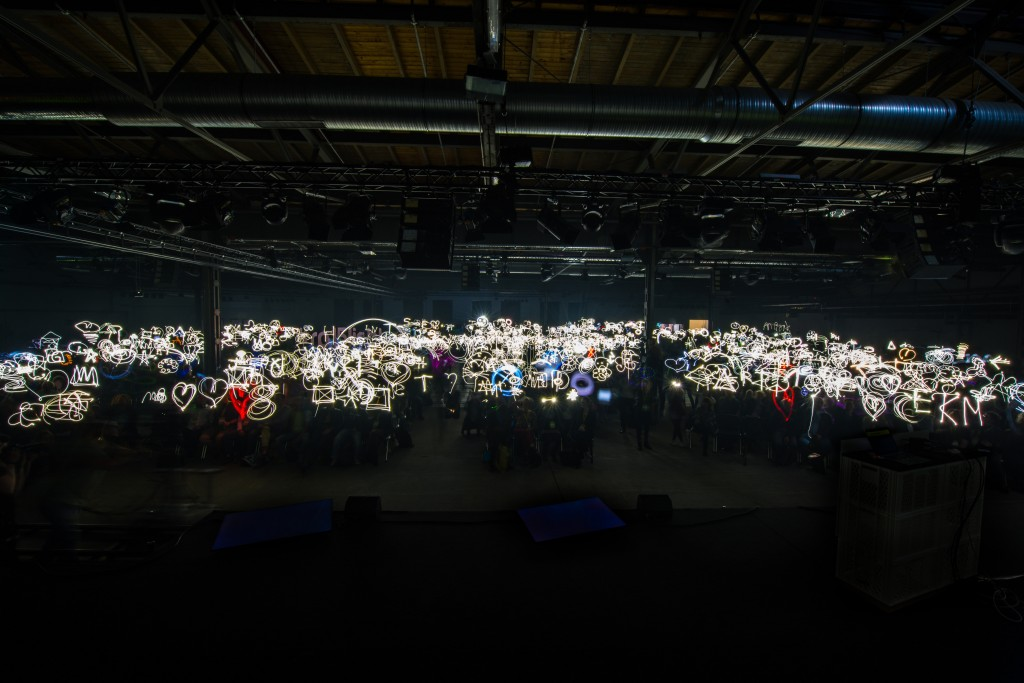 Uncropped photo of the light painting world record. www.1000lights.de/rp15 #rp15lights