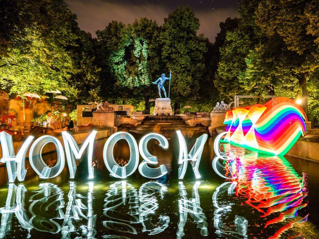 Homoehe JETZT! Lightpainting bei der #Kulturstrandleuchtet Lightpainting Aktion