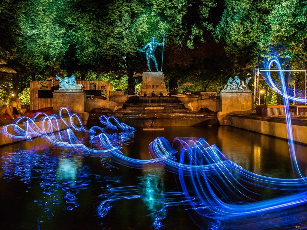 Vater Rhein Brunnen #kulturstrandleuchtet- Ulrich Tausend (1000lights.de)